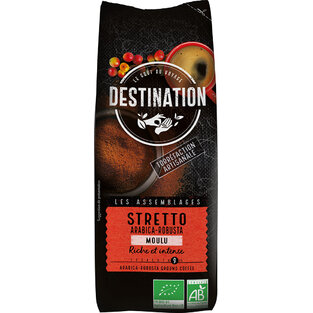 Bio káva mletá Stretto Destination 250 g